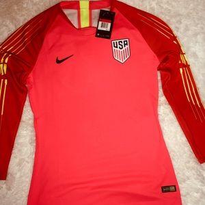 Nike Shirts - Nike Dri Fit USA Tangerine Long Sleeve Shirt sz LG